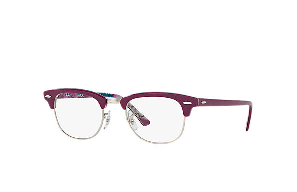 Ray-Ban 0RX5154-Clubmaster Optics Violeta,Multicolorida OPTICAL