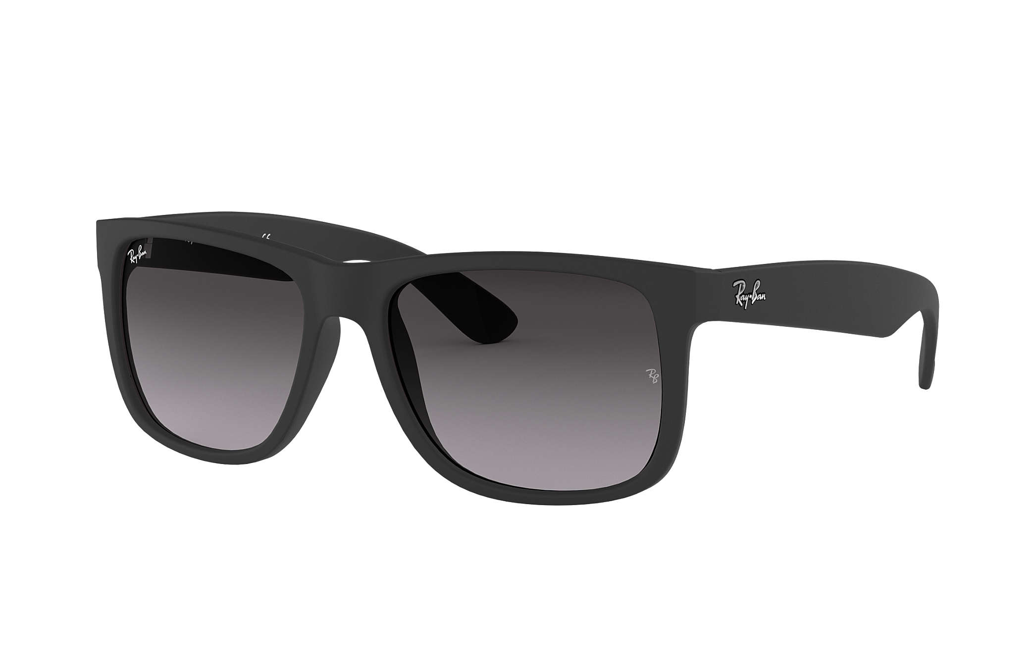 bd3ababcae538 Ray-Ban Justin Classic RB4165F Black - Nylon - Grey Lenses ...