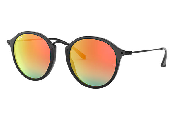 Ray-Ban 0RB2447-ROUND FLECK FLASH LENSES GRADIENT Black SUN