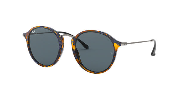 78afdf1393 Ray-Ban Round Fleck RB2447 Tortoise - Acetate - Blue Gray Lenses -  0RB24471158R552