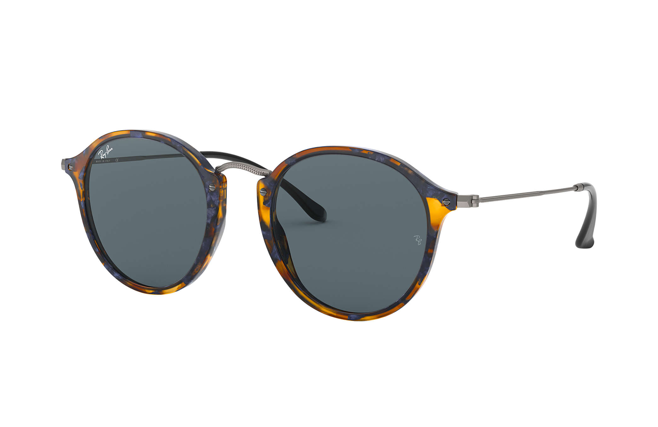 ae93798a0c Ray-Ban Round Fleck RB2447 Tortoise - Acetate - Blue Gray Lenses ...