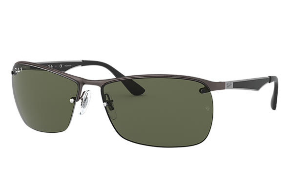f14129fc3f4 Ray-Ban RB3550 Gunmetal - Metal - Green Polarized Lenses ...