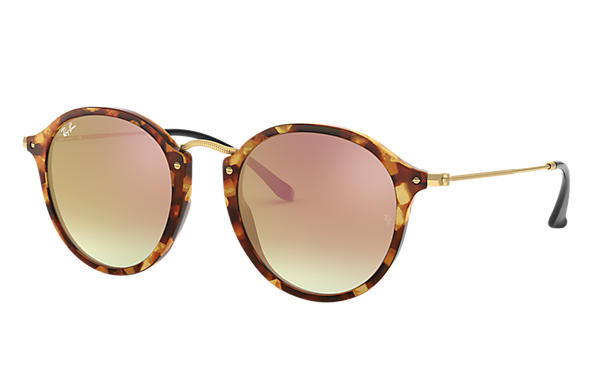 Ray-Ban 0RB2447-ROUND FLECK FLASH LENSES GRADIENT Havana; Schwarz SUN