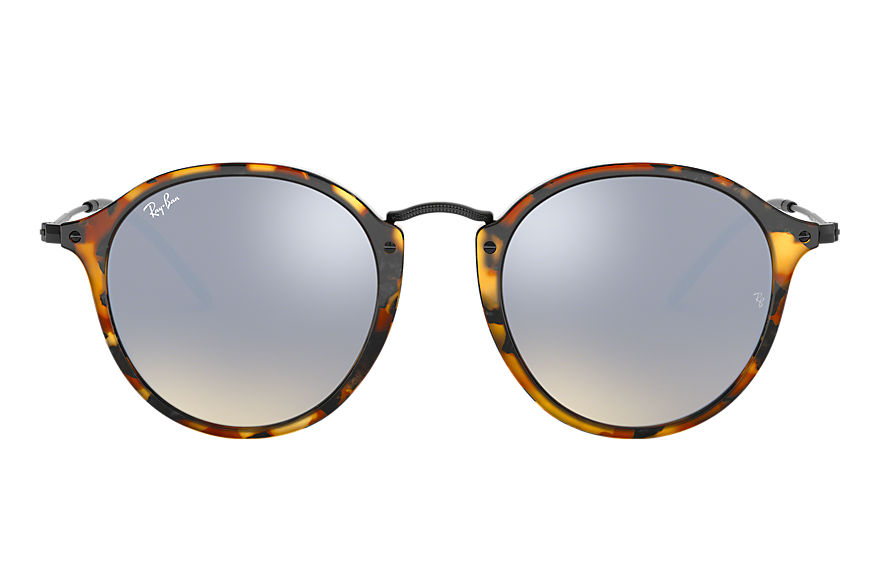 Ray-Ban  sunglasses RB2447 UNISEX 012 round fleck flash lenses gradient tortoise 8053672633818