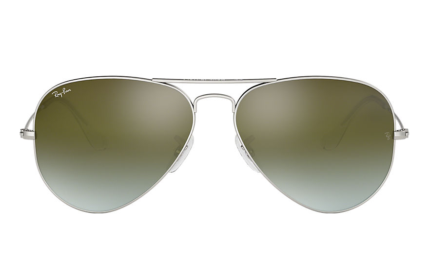 Ray-Ban  sunglasses RB3025 UNISEX 097 aviator flash lenses gradient silver 8053672634822