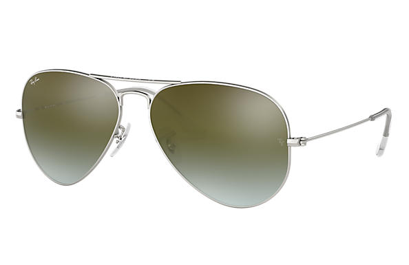 Ray-Ban 0RB3025-AVIATOR FLASH LENSES GRADIENT Silver SUN