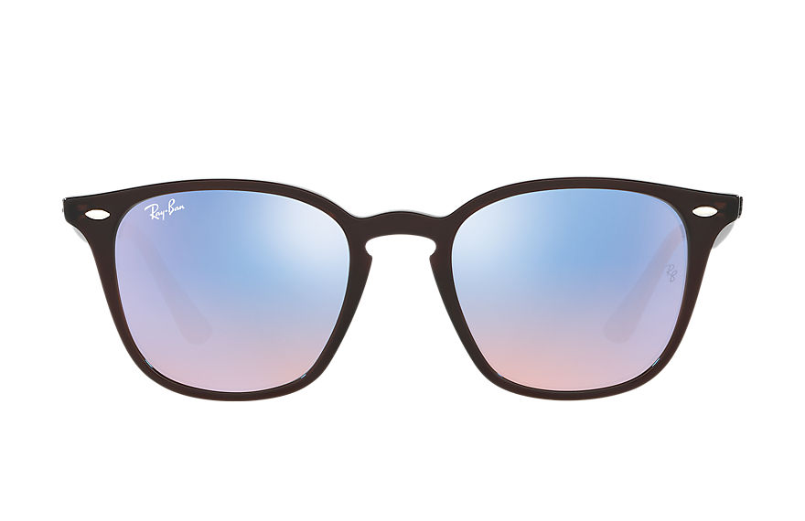 Ray-Ban RB4258 Brown with Blue Gradient Mirror lens