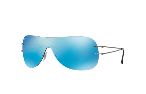 Ray-Ban Sunglasses RB8057 Gunmetal with Blue Mirror lens