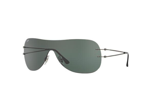 df5edc36633 Ray-Ban RB8057 Gunmetal - LightRay Titanium - Green Lenses ...