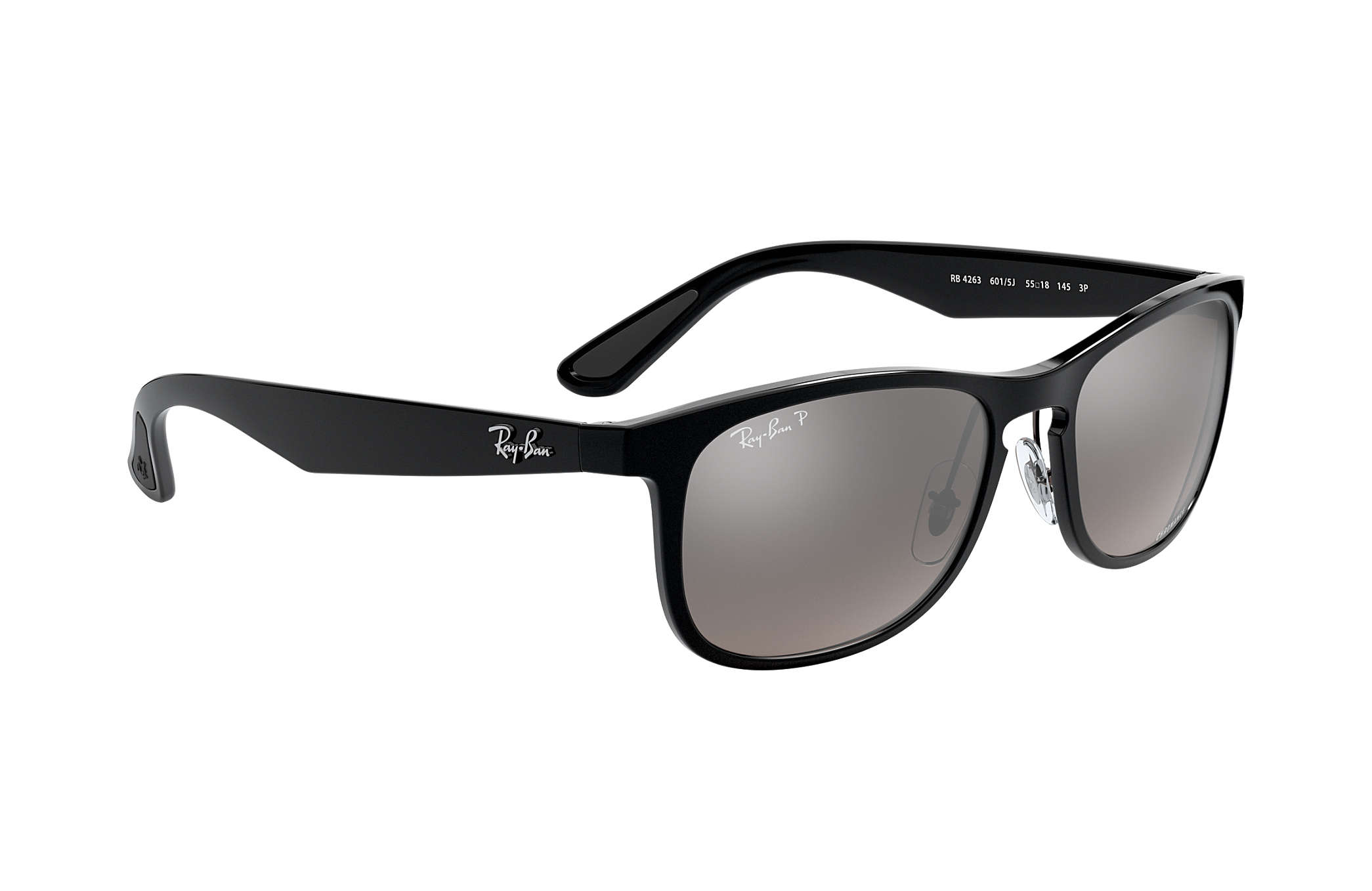 c9894c5a48f0 Ray-Ban Rb4263 Chromance RB4263 Black - Nylon - Silver Polarized ...