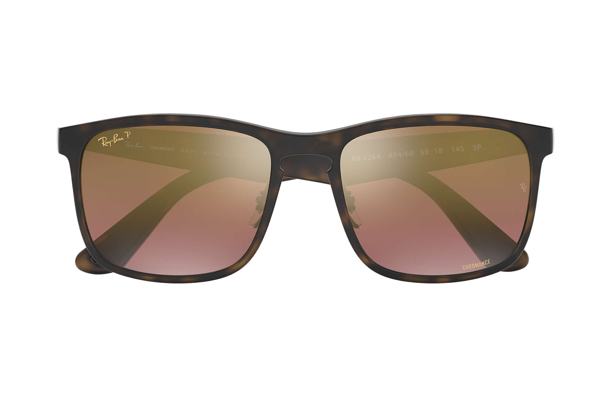 21114a4056 Ray-Ban Rb4264 Chromance RB4264 Tortoise - Nylon - Purple Polarized ...
