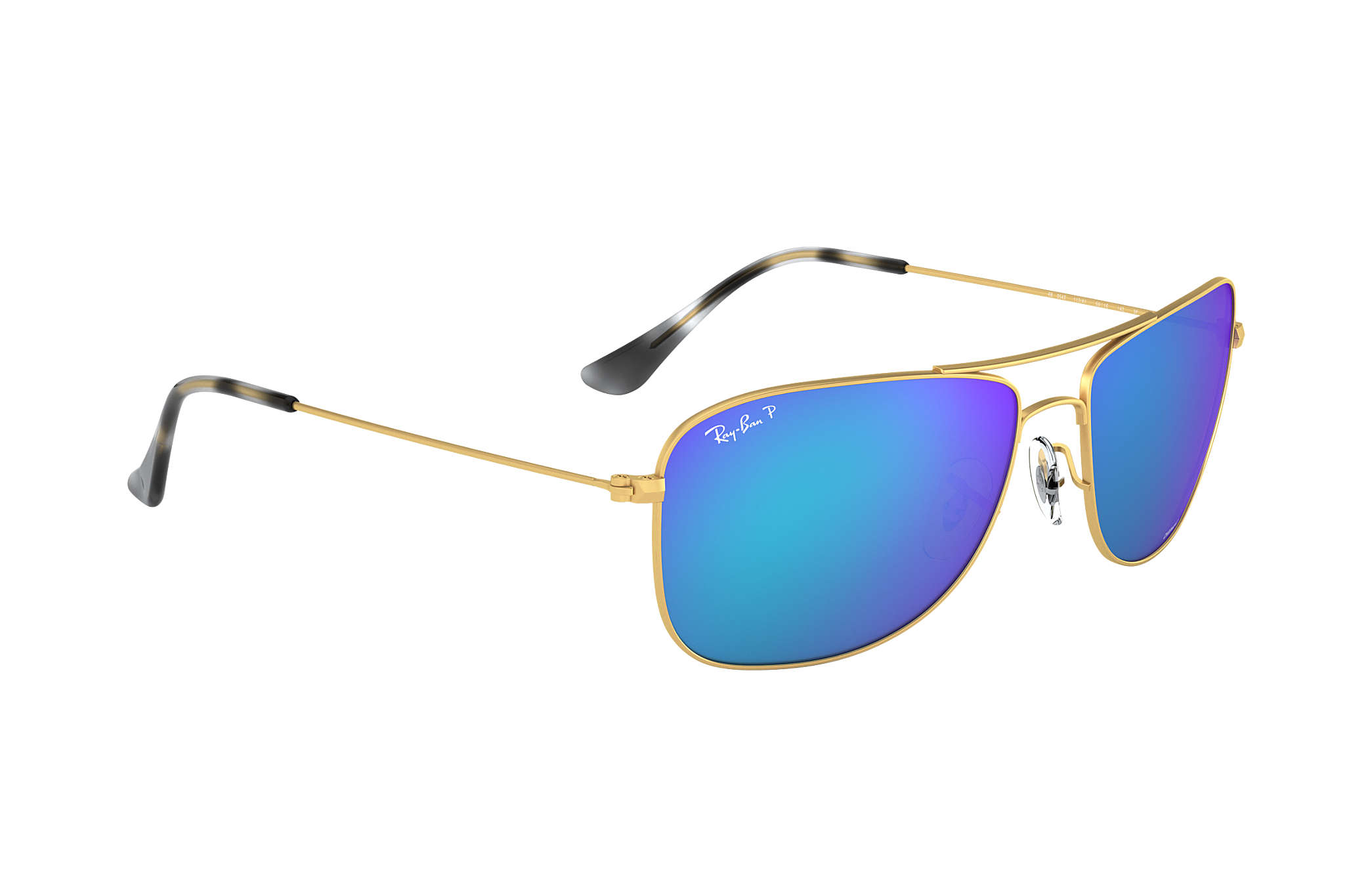 8a34187c8f1 Ray-Ban Rb3543 Chromance RB3543 Gold - Metal - Blue Polarized Lenses ...