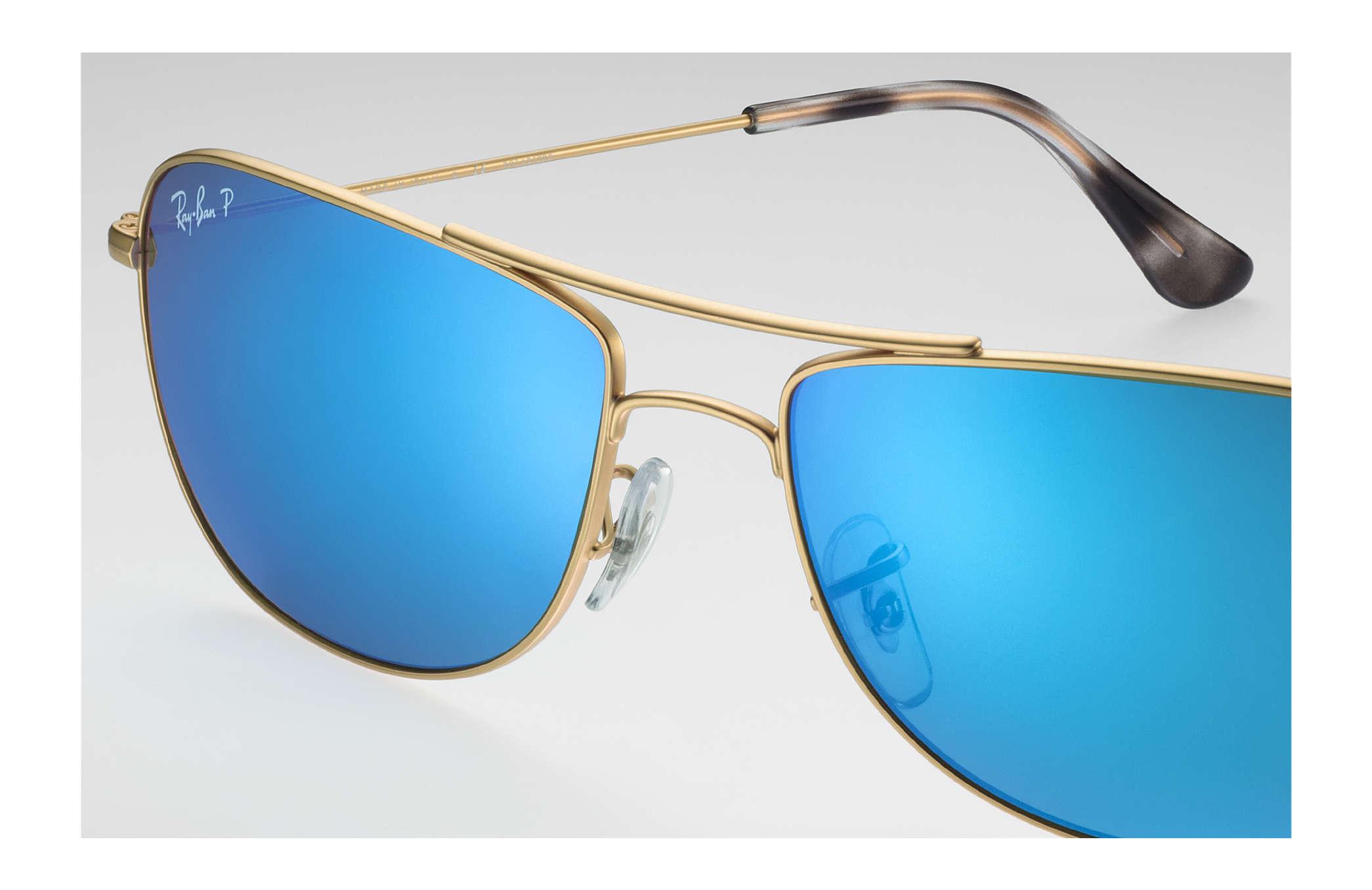 8452ede900 Ray-Ban Rb3543 Chromance RB3543 Gold - Metal - Blue Polarized Lenses ...