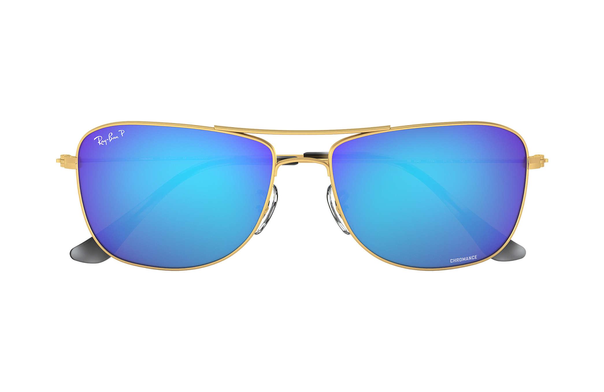 c765f8eff6 Ray-Ban Rb3543 Chromance RB3543 Gold - Metal - Blue Gepolariseerde ...