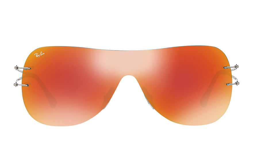 Ray-Ban Sunglasses RB8057 Grey with Orange Mirror lens