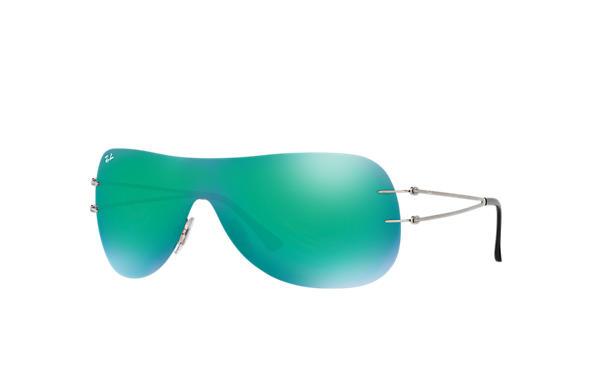 dcde3783659 Ray-Ban RB8057 Grey - LightRay Titanium - Green Lenses - 0RB8057159 ...