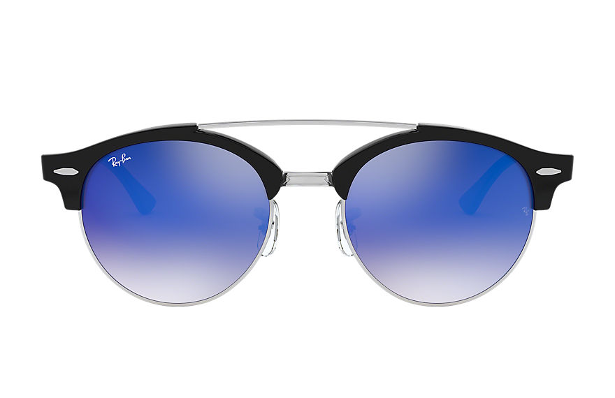 Ray-Ban  sonnenbrillen RB4346 MALE 010 clubround double bridge schwarz 8053672650280