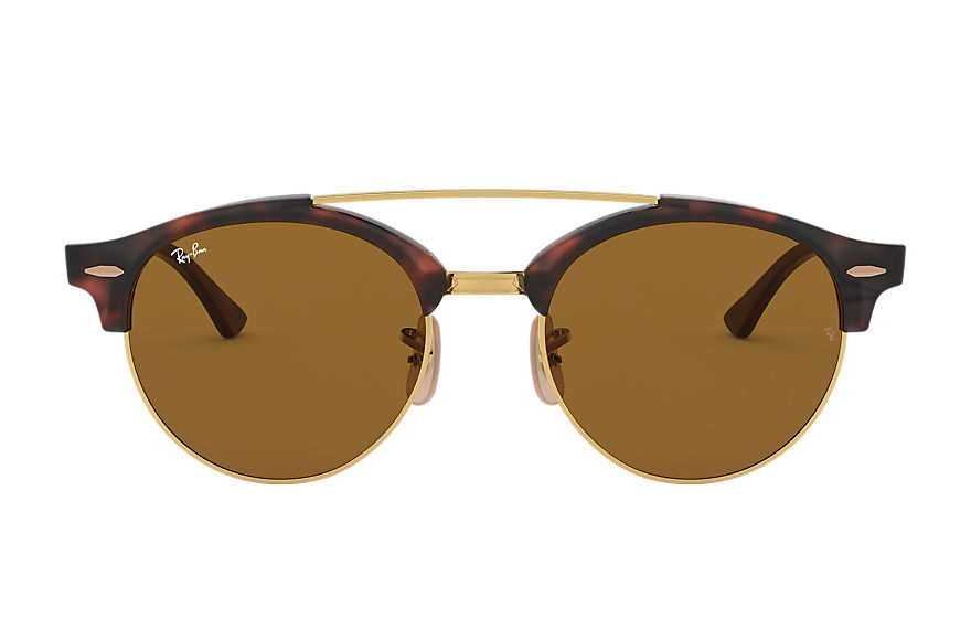 Ray-Ban  sonnenbrillen RB4346 MALE 009 clubround double bridge havana 8053672650297