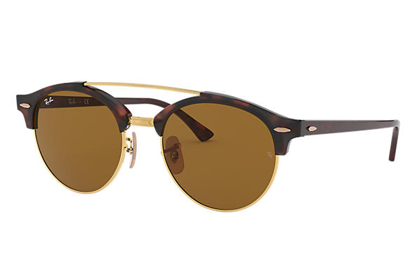 Ray-Ban 0RB4346-CLUBROUND DOUBLE BRIDGE Tortoise SUN