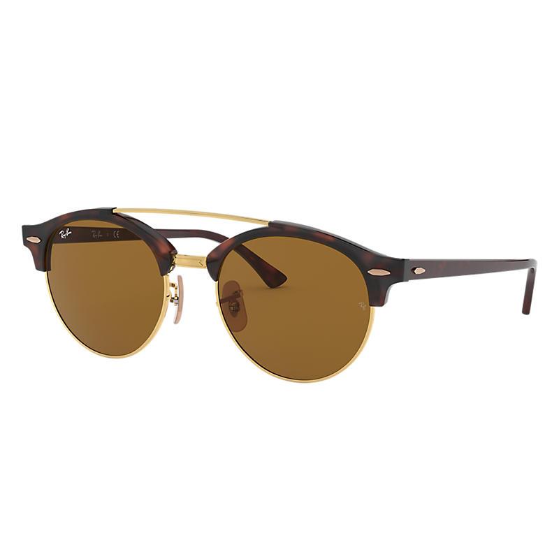0e19f5b195 Ray Ban Clubround double bridge Man Sunglasses Lenses  Brown