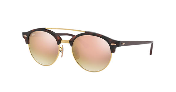 85b02f0eaa Ray-Ban Clubround Double Bridge RB4346 Tortoise - Injected - Copper Lenses  - 0RB4346990 7O51