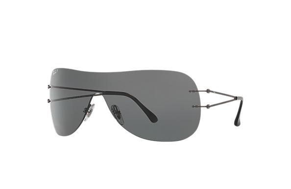 437ee42605e Ray-Ban RB8057 Gunmetal - LightRay Titanium - Grey Polarized Lenses ...
