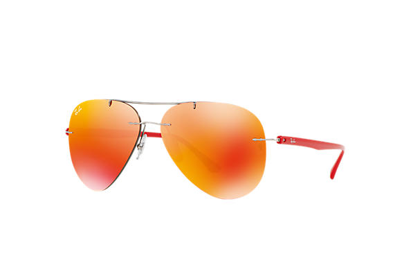 Ray Ban Rb8058 Grey Titanium Orange Lenses