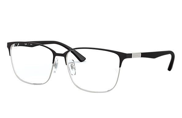 Ray-Ban 0RX6380D-RB6380D Black,Silver; Black OPTICAL