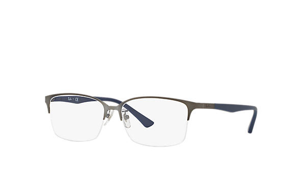 Ray-Ban 0RX6381D-RB6381D Gunmetal; Blue OPTICAL