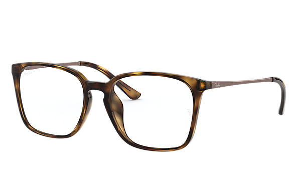 Ray-Ban 0RX7103D-RB7103D Tortoise; Brown OPTICAL