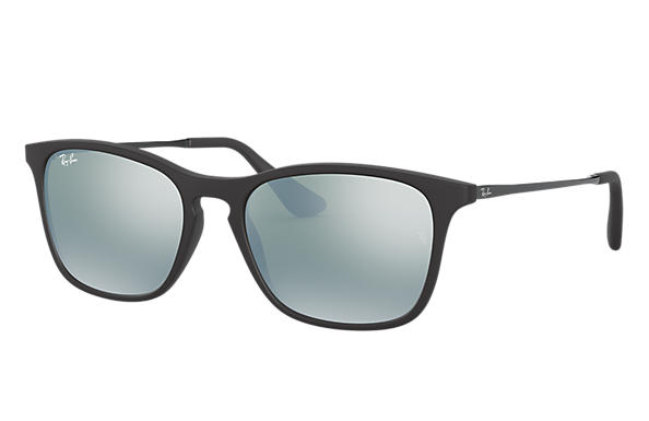 Ray-Ban Sunglasses CHRIS JUNIOR Black with Silver Mirror lens