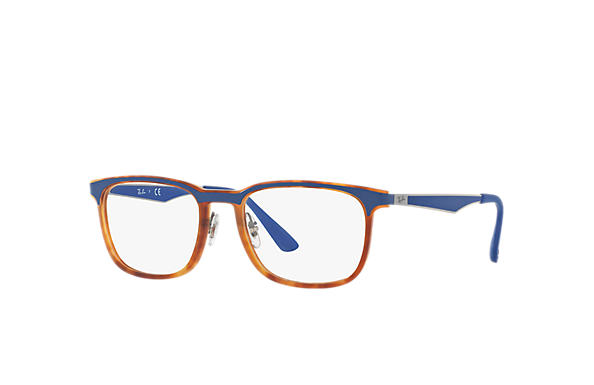 Ray-Ban 0RX7163-RB7163 Tortoise; Gunmetal,Blue OPTICAL