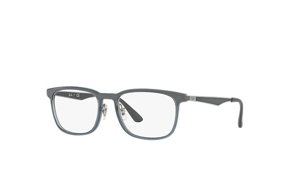 Ray-Ban 0RX7163-RB7163 Blu; Canna di fucile,Grigio OPTICAL
