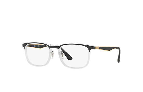 Ray-Ban 0RX7163-RB7163 Transparent; Gold,Black OPTICAL