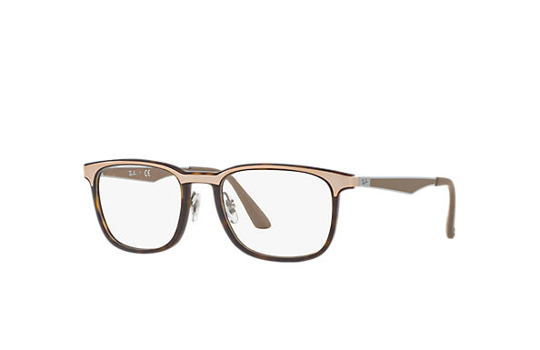 Ray-Ban 0RX7163-RB7163 Tortoise; Gunmetal,Brown OPTICAL