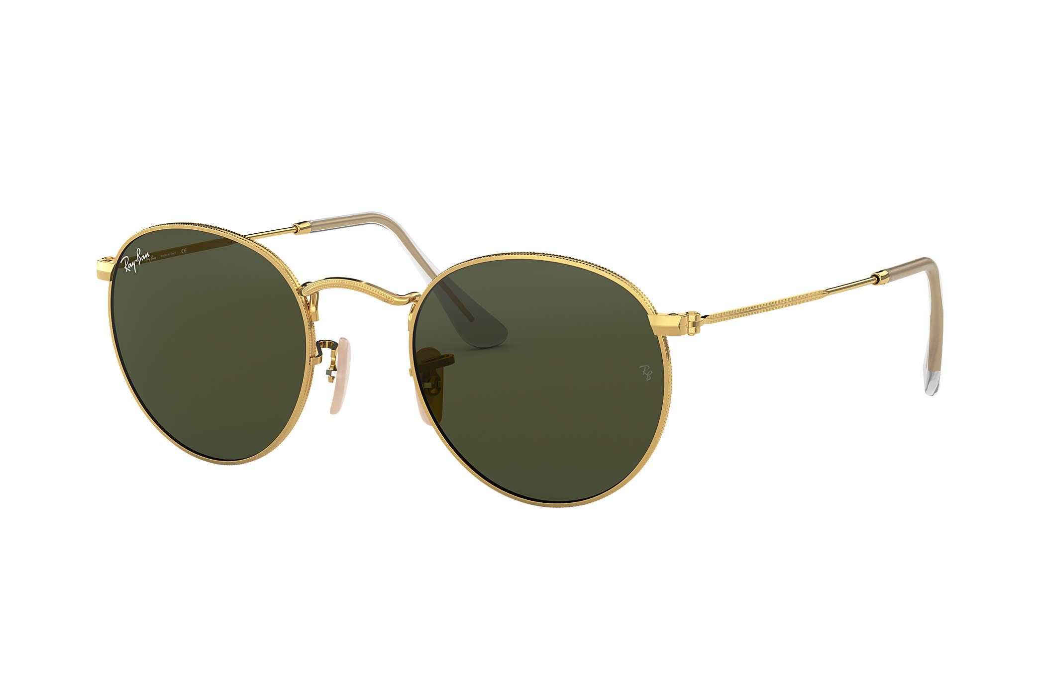 696a50c28e02a Ray-Ban Round Metal RB3447 Ouro - Metal - Lentes Verde ...