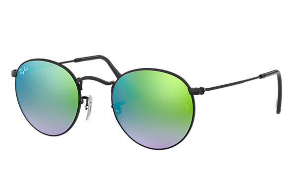 Ray-Ban 0RB3447-ROUND FLASH LENSES GRADIENT Black SUN