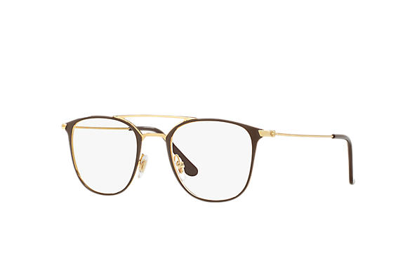 Ray-Ban 0RX6377-RB6377 Braun,Gold; Gold OPTICAL
