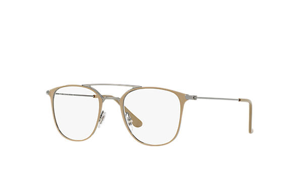 Ray-Ban 0RX6377-RB6377 Marrone Chiaro,Canna di fucile; Canna di fucile OPTICAL