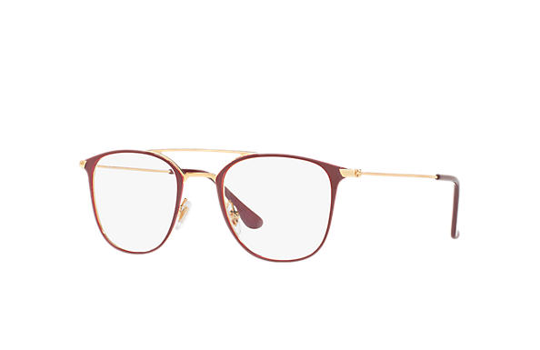 Ray-Ban 0RX6377-RB6377 Bordeaux,Gold; Gold OPTICAL