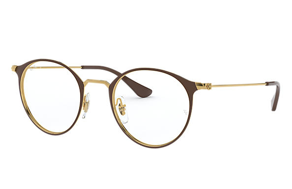 Ray-Ban 0RX6378-RB6378 Brown; Gold OPTICAL