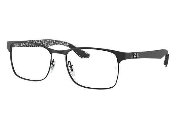 af864e2485834 Óculos de grau Ray-Ban RB8416 Preto - Fibra de carbono ...