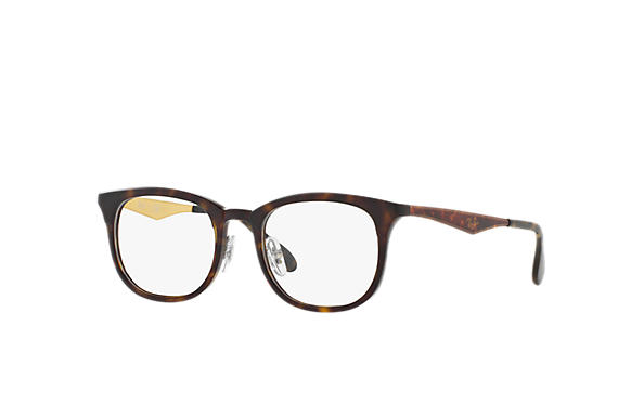 Ray-Ban 0RX7112-RB7112 Havane; Gun OPTICAL