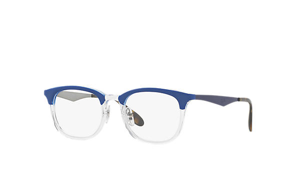 Ray-Ban 0RX7112-RB7112 Blu,Trasparente; Blu,Canna di fucile OPTICAL