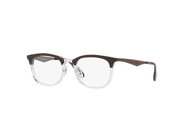 Ray-Ban 0RX7112-RB7112 Brown,Transparent; Brown,Gunmetal OPTICAL