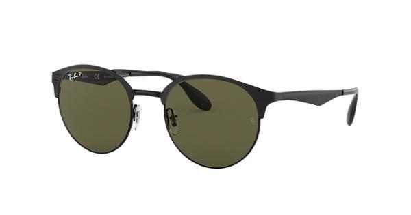 RAY BAN RAY-BAN Herren Sonnenbrille » RB3545«, schwarz, 186/9A - schwarz/grün