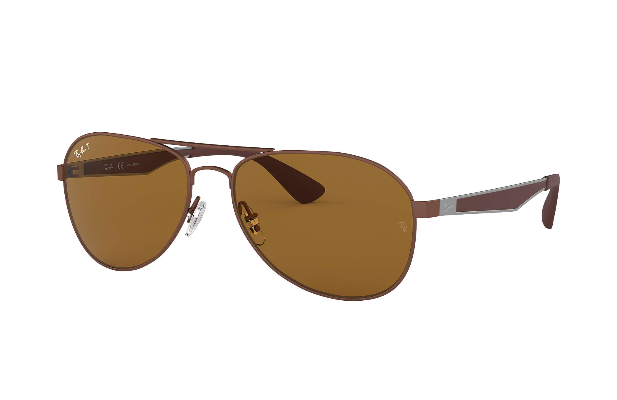 61cdf0f6cf2 Ray-Ban RB3549 Brown - Metal - Brown Polarized Lenses - 0RB3549012 ...