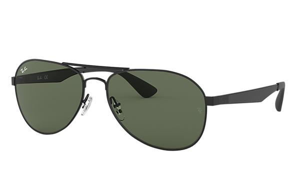 7c2d92cbdb443 Ray-Ban RB3549 Black - Metal - Green Lenses - 0RB3549006 7158