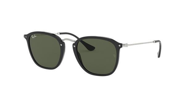 RAY BAN RAY-BAN Sonnenbrille » RB2448N«, schwarz, 901 - schwarz/grün