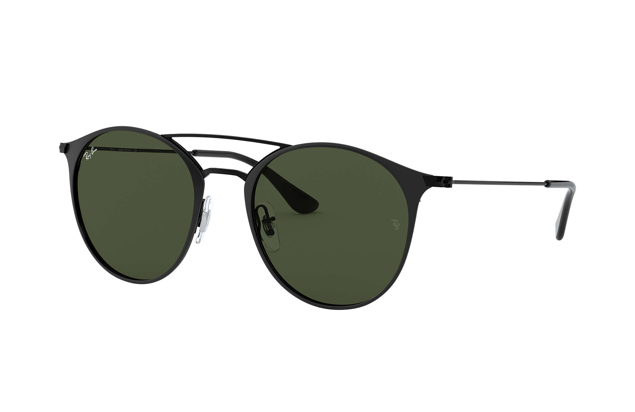 Ray-Ban RB3546 Black - Steel - Green Lenses - 0RB354618649  fa5a13c1bed